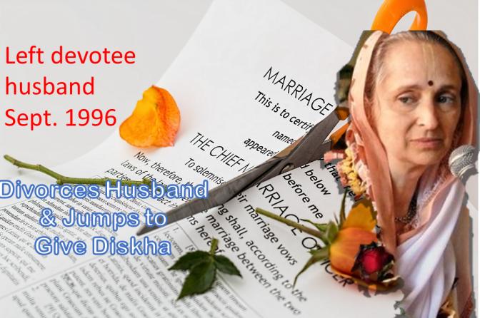 Urmila Dasi's Divorce Papers, Iskcon Female Diksha Guru Candidate