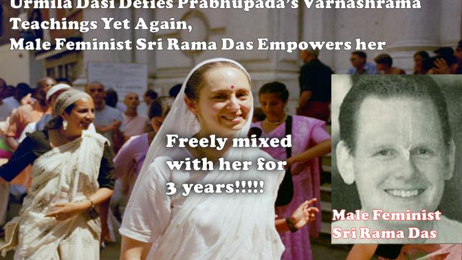 Urmila Dasi the Feminist Defies Scriptures Yet Again!