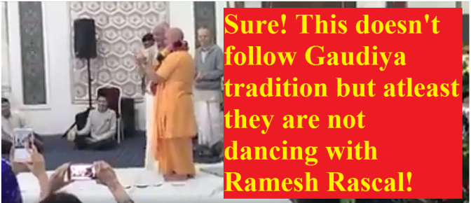 Statement About Caitanya Chandra Das' and Bhakti Brhinga Govinda Swami's Weirdo Dance