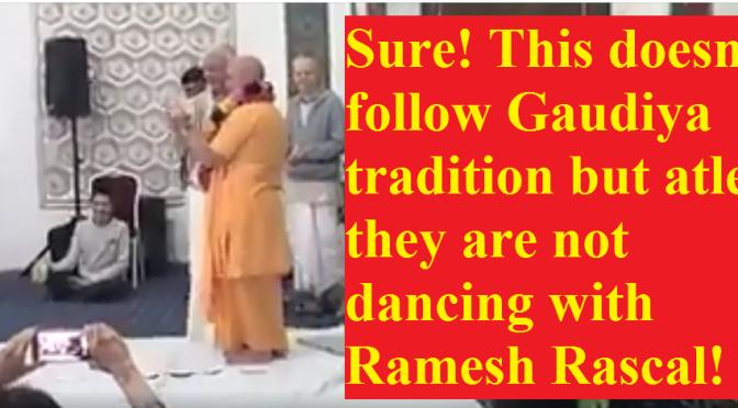 Statement About Caitanya Chandra Das' and Bhakti Brhinga Govinda Swami's Weirdo Dance